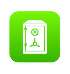 safe icon digital green vector image