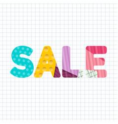 sale paper cut title design vector image