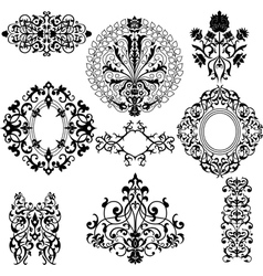 Set of decorative floral patterns vector image