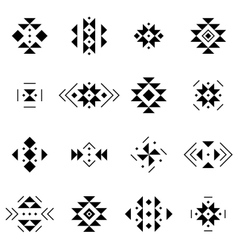 Set of elements in aztec style Collection vector