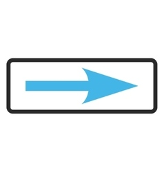 Sharp Arrow Right Framed Icon vector