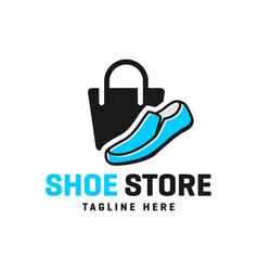 Shoe shop modern logo vector