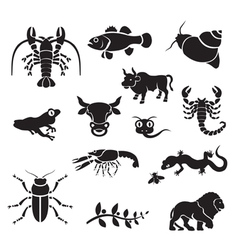 silhouette - animals vector image