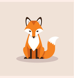 sitting fox vector image