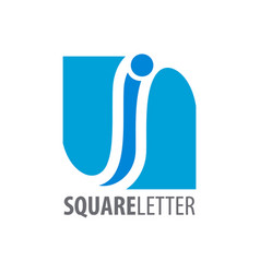 square initial letter i logo concept design vector image
