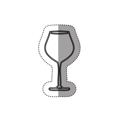 Sticker silhouette glass cups utensil vector