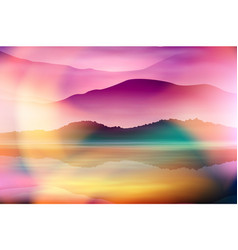 summer background with sea and mountain vector image