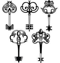 Tattoo keys vector