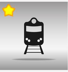 Train black icon button logo symbol concept vector