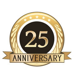 Twenty Five Year Anniversary Badge vector image