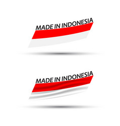 Two modern colored indonesian flags vector