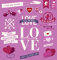 Valentinesday messages vector