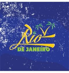 Vintage of Rio de Janeiro vector