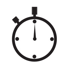 watch icon on white background watch sign vector image