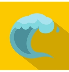 Wave icon cartoon style vector