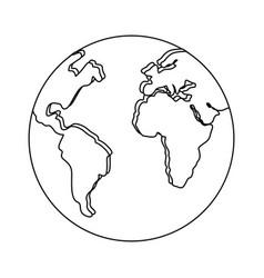 world earth planet vector image