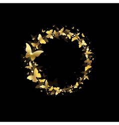 wreath of butterflies vector image