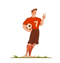 Football man with ball Sportsman isolated on vector image