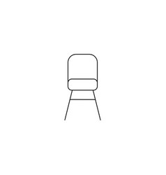 isolated chair outline symbol on clean background vector image