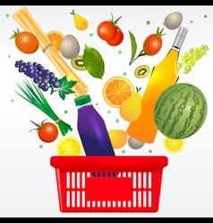 Mediterranean shopping cart vector image