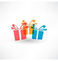 Thre colored gifts vector image vector image