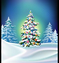 xmas tree vector image vector image