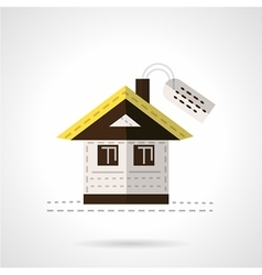 House for sale flat icon vector image vector image