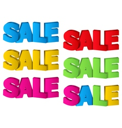 Sale 3D Design vector image