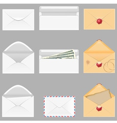 set icons paper envelopes vector image vector image