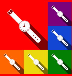 watch sign set of icons with vector image