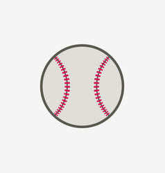 baseball ball icon sport equipment vector image vector image