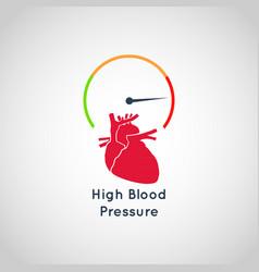high blood pressure icon design vector image