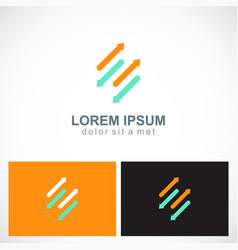 line arrow colored logo vector image vector image