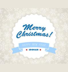 simple blue vintage retro christmas card vector image vector image