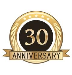 Thirty Year Anniversary Badge vector image