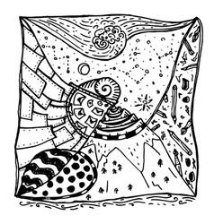 Zentangle decorative drawing vector