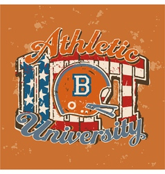 American football university athletic department vector image vector image