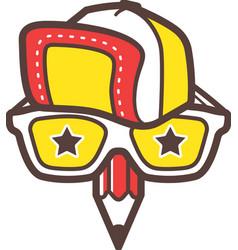 Creative designer logo Geek avatar icon vector image vector image