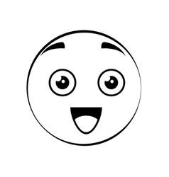 cute cartoon face vector image vector image