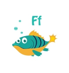 Fish Funny Alphabet Animal vector image vector image