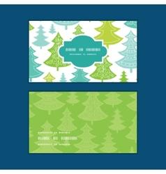 holiday christmas trees horizontal frame vector image vector image