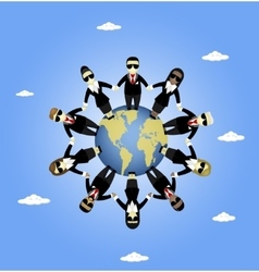 International Teamwork vector image