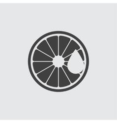 Lemon aroma oil icon vector image vector image