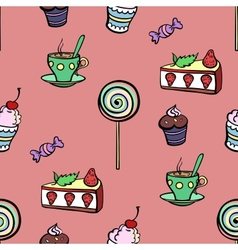 Red Sweet Pattern vector image