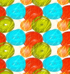 Rough brush green red blue circles vector image vector image