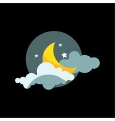 Weather night icon vector image vector image