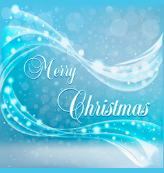 a christmas card with snow and wind vector image