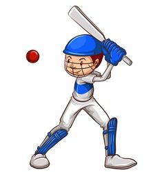 A sketch of a cricket player vector image