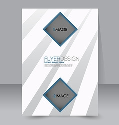Abstract flyer design template vector image