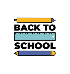 back to school web banner colorful pencils eps10 vector image